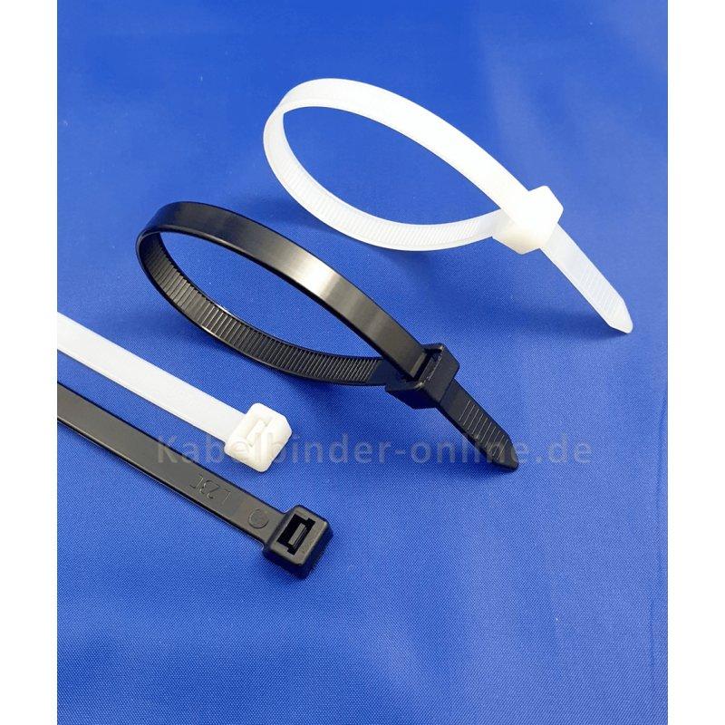 1200 Stück Kabelbinder Sortiment Schwarz  Set 100 150 200 mm x 2,5 3,5 4,5 mm