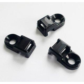 100x Schraubsockel für Kabelbinder 15x10mm Montagesockel ; weiss natur